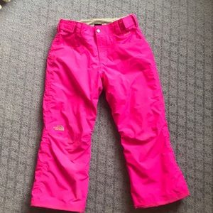 Girls North Face Insulated Snow / Ski Pants